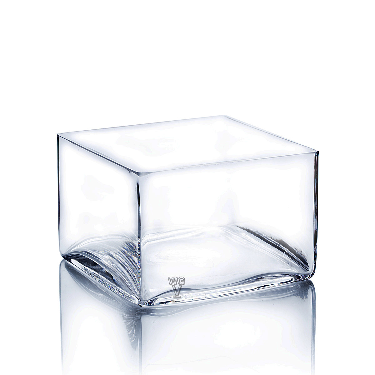 6x6 glass vase of square block glass vases city block square vase by wgv international with block square pan vase 6 inches by 4 wholesale glass vases