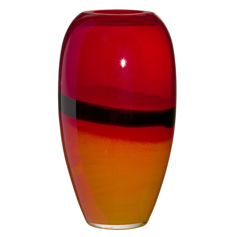 8 glass vase of venetian glass factory carlo moretti at milan design week 2014 regarding ogiva,2003<br> collezionid