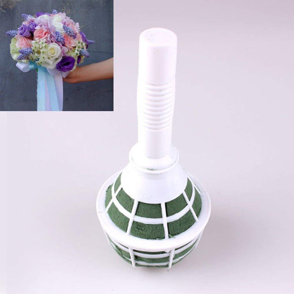 8 inch glass cube vase of amazon com panpob68 bridal wedding flower decoration bouquet foam throughout amazon com panpob68 bridal wedding flower decoration bouquet foam floral holder handle new 6 pcs home kitchen