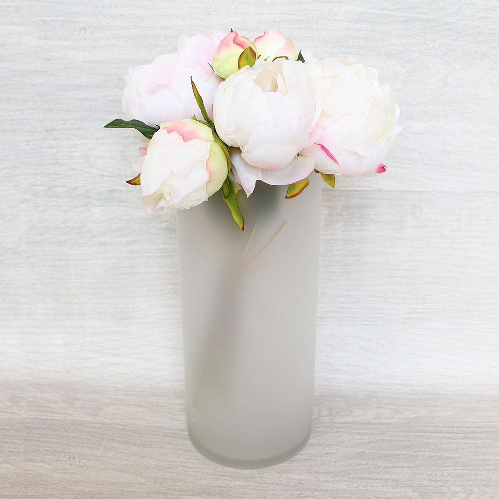 8 inch glass cylinder vase of use stylish glass floral containers for diy wedding centerpieces and throughout use stylish glass floral containers for diy wedding centerpieces and home decor such as this stunning frosted white glass cylinder vase