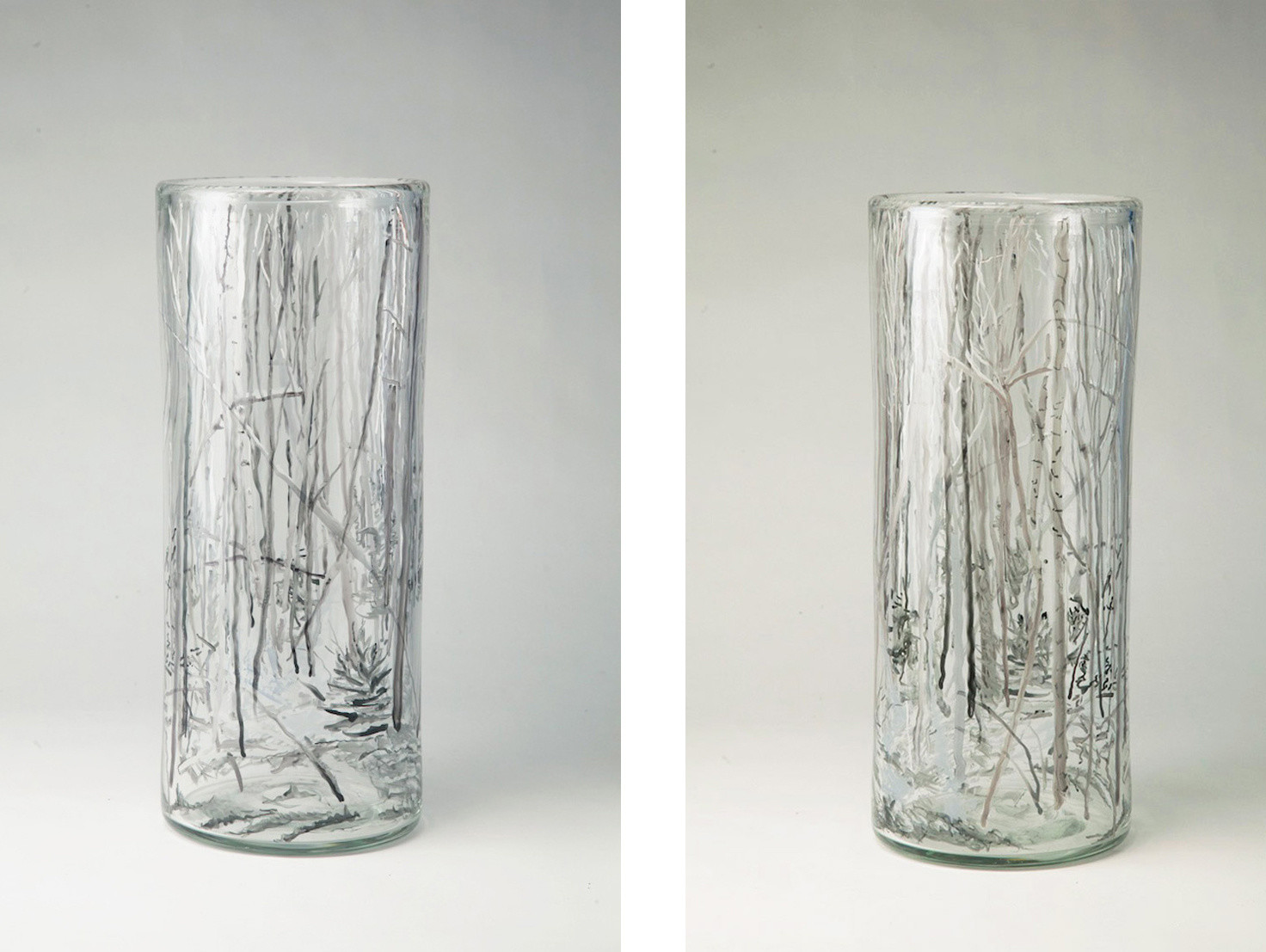 8 inch glass vase of glass emily brown pertaining to woods with birches