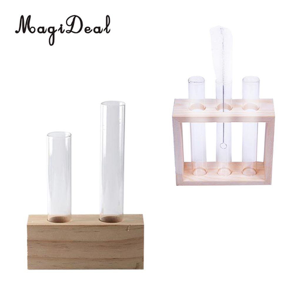 9 inch bud vase of 2pcs plant test tube flower bud vase in wooden stand perfect for with 2pcs plant test tube flower bud vase in wooden stand perfect for hydroponic plants home garden