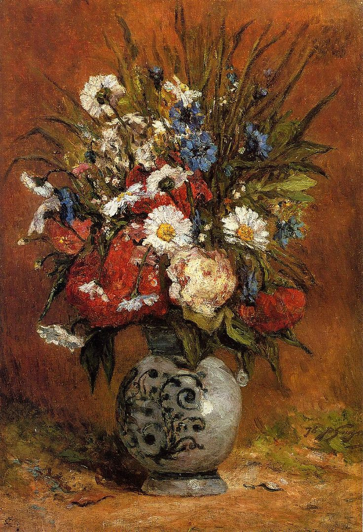 A Vase Of Flowers by Paul Gauguin Of 80 Best Paul Gauguin Images On Pinterest Art Pics Autumn Painting within Paul Gauguin Daisies and Peonies In Blue Vase 1876 A³leo Canvas 55 X 72 Cm Collezione Privata