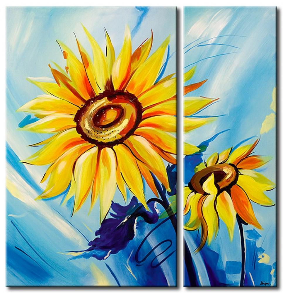 A Vase Of Flowers by Paul Gauguin Of Art Print Sunflowers Sunflowers Flowers Canvas Prints Throughout 48607 1