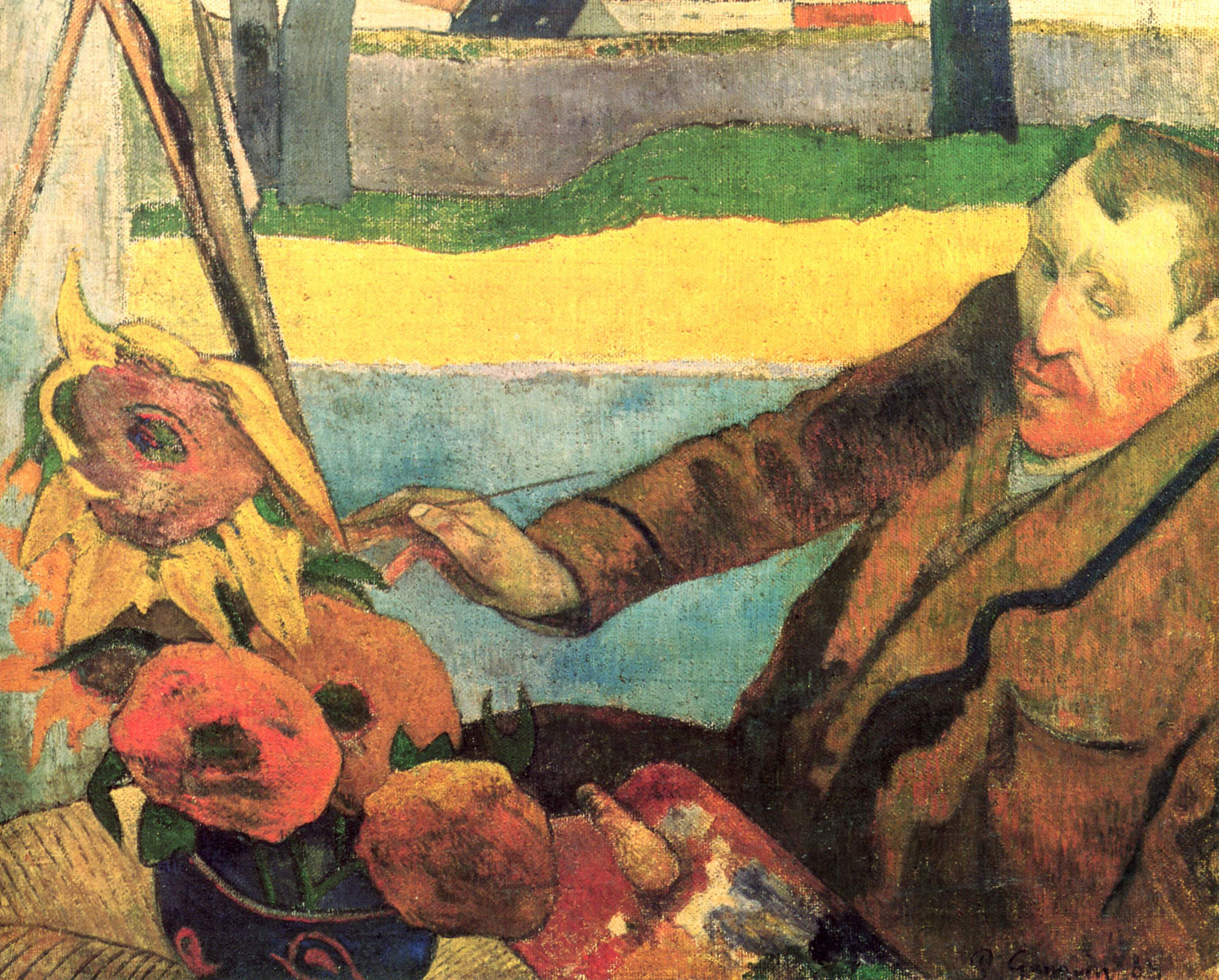 A Vase Of Flowers by Paul Gauguin Of His Timeline Vincent Throughout In An Absinthe Fueled State Of Instability and Believing that Gauguin is Deserting Him and His Studio Of the south Vincent Uses A Straight Razor to Slice
