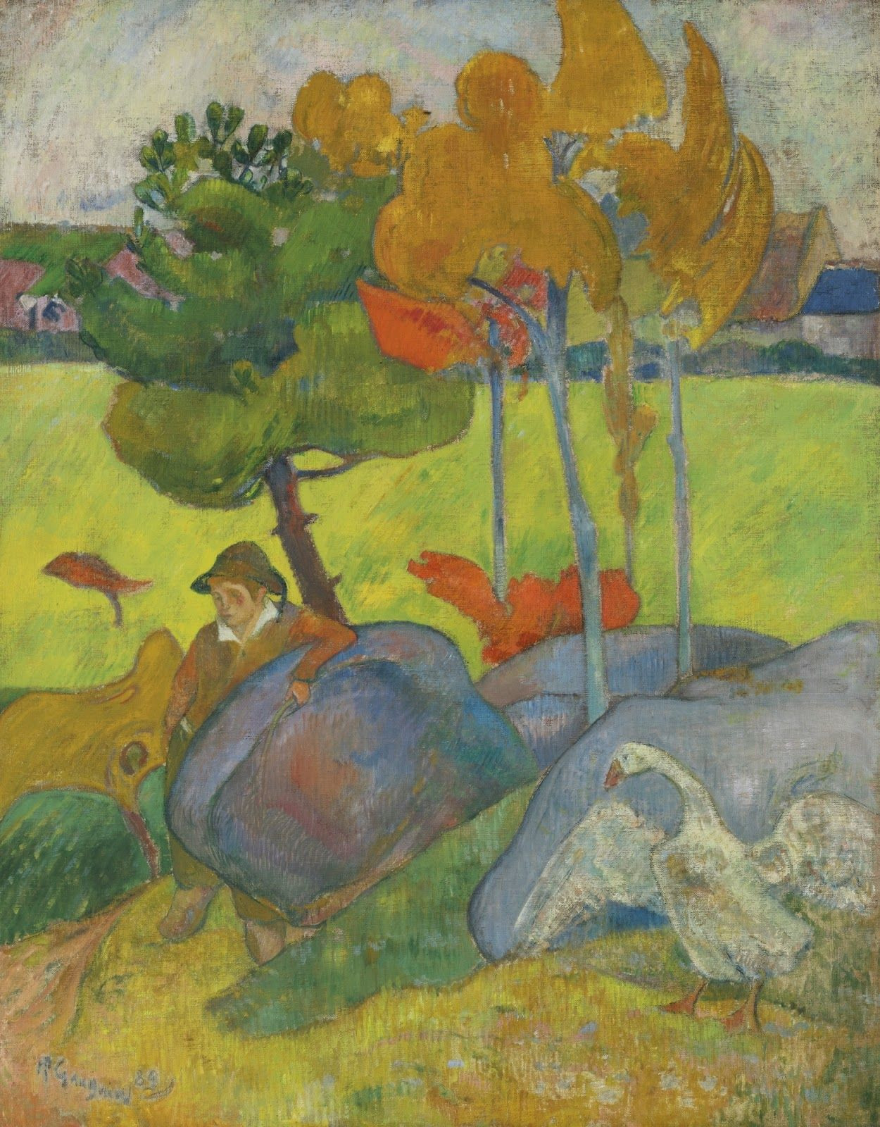 A Vase Of Flowers by Paul Gauguin Of Masterpiece Of Art Paul Gauguin Petit Breton A Loie 1889 Inside Masterpiece Of Art Paul Gauguin Petit Breton A Loie 1889
