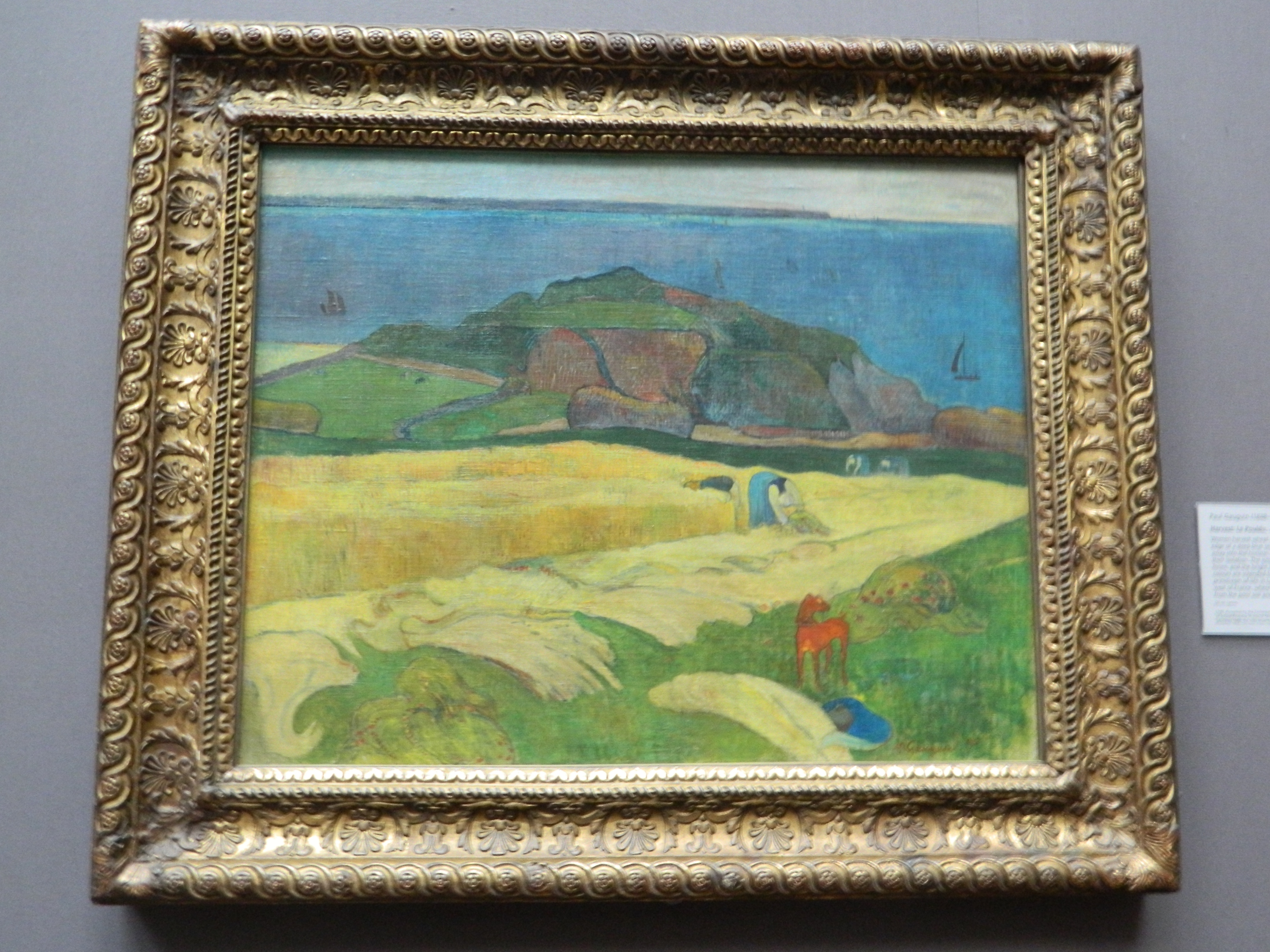 A Vase Of Flowers by Paul Gauguin Of September 2014 Modern and Contemporary Fine Art In London with Regard to the First Of Gauguins Paintings that We Looked at This Week Was His Harvest Le Pouldu the First Thing that We Noticed when Looking at the Painting is that