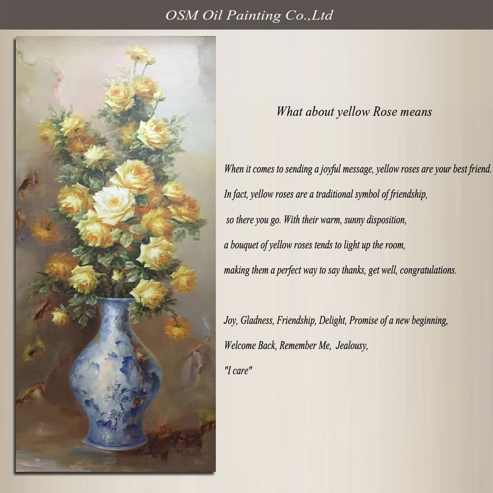 A Vase Of Flowers by Paul Gauguin Of Skills Artist Pure Hand Painted top Quality Yellow Rose Oil Painting with Regard to why Yellow Roses Oil Painting Described