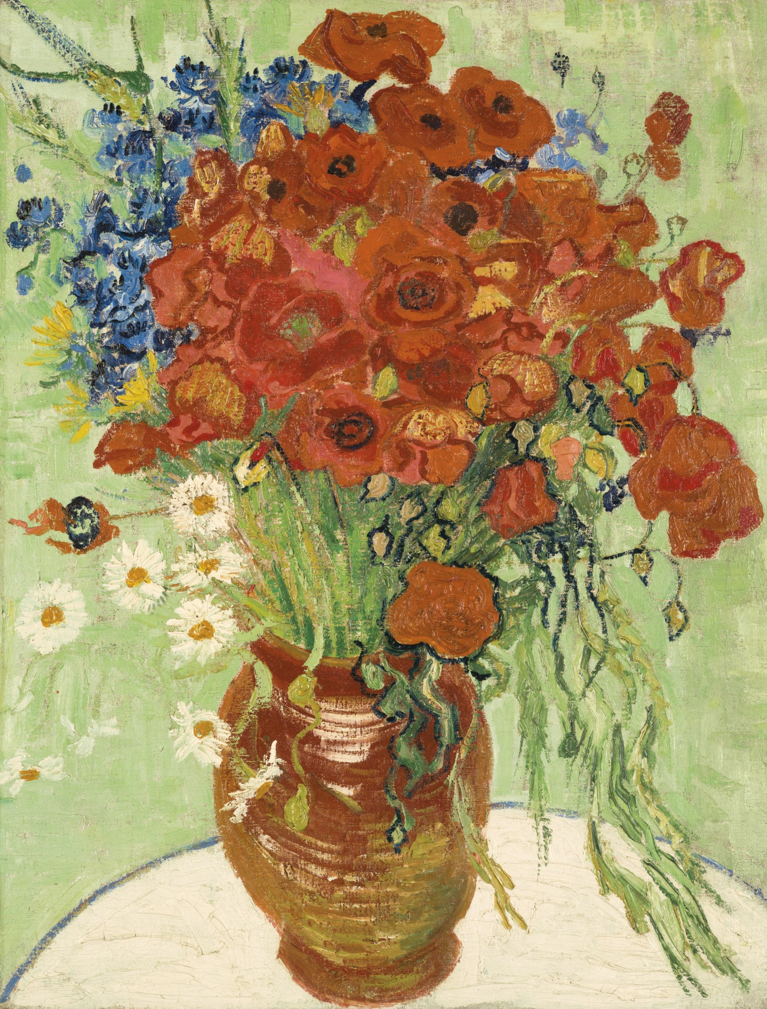 A Vase Of Flowers by Paul Gauguin Of souborvincent Van Gogh Vase with Cornflowers and Poppies F280 Throughout souborvincent Van Gogh Vase with Cornflowers and Poppies F280 Jh2032