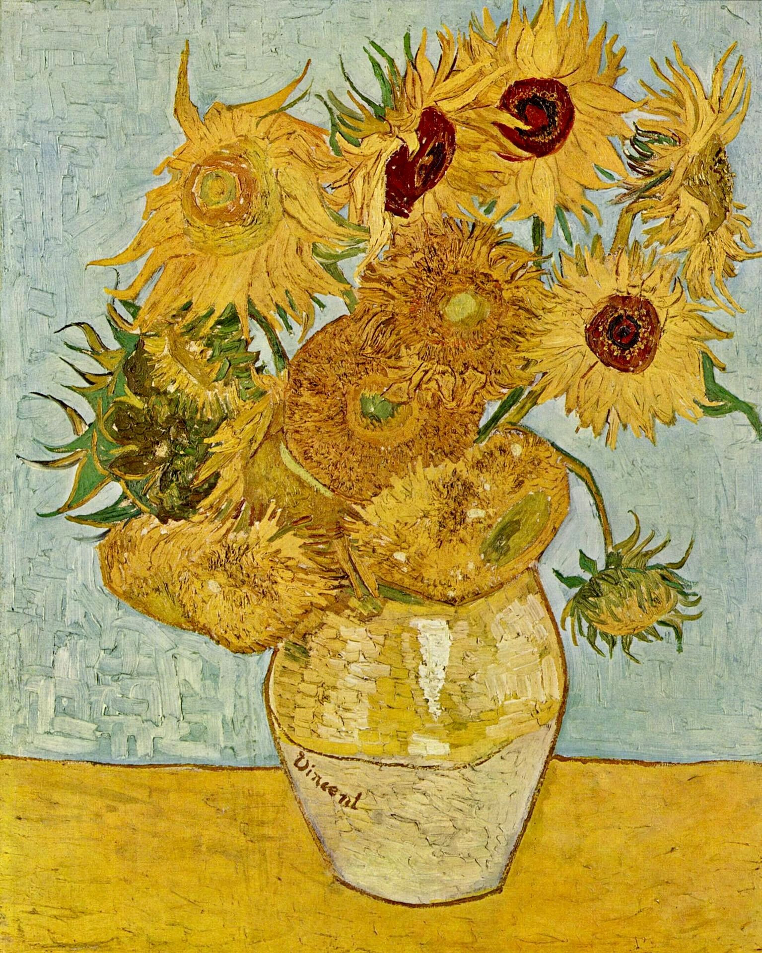A Vase Of Flowers by Paul Gauguin Of Still Life Vase with Twelve Sunflowers He Worked His Sunflower with Regard to Still Life Vase with Twelve Sunflowers He Worked His Sunflower Series In Anticipation Of Paul Gauguins Arrival In Arles In A Letter to Emile Bernard In