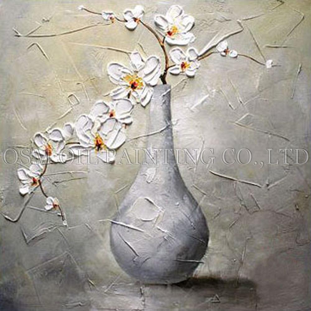 A Vase Of Flowers by Paul Gauguin Of Superb Artist Hand Painted King Size Nielly Francoise Portrait Oil In Skilled Artist Handmade High Quality Modern Vase Flower Oil Painting On Canvas Handmade White Flower Oil