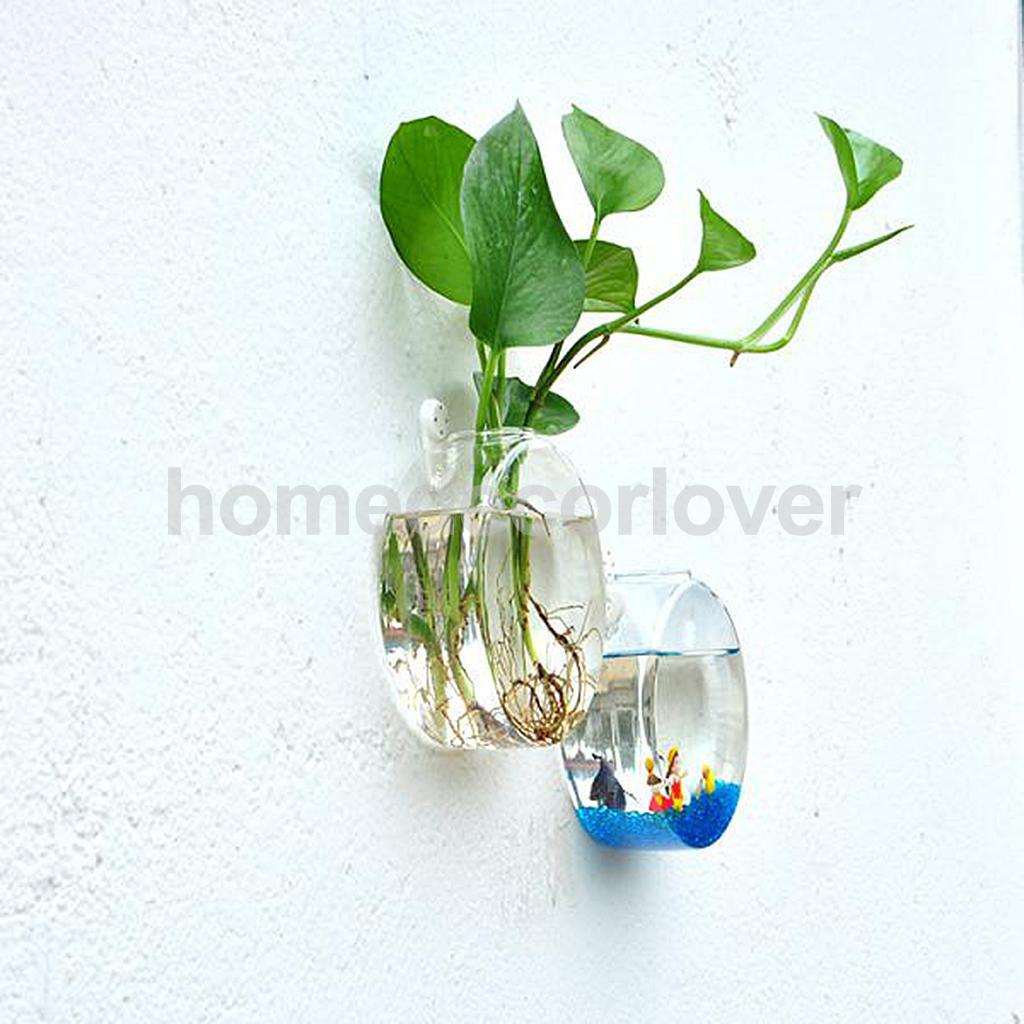 acrylic cylinder vase of wall hanging plant flower hydroponic flat ball glass vase terrarium for aeproduct getsubject