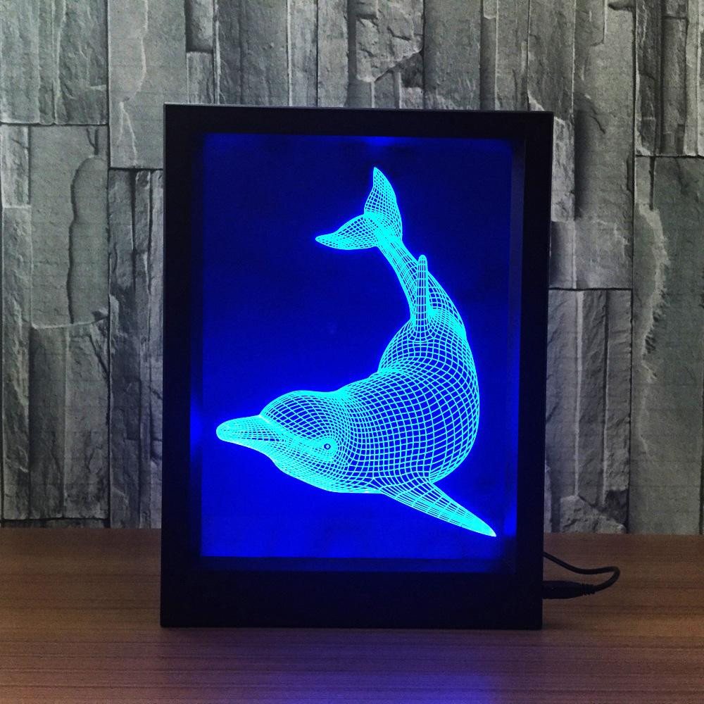 acrylic rectangle vase of 3d dolphin led photo frame decoration lamp ir remote 7 rgb lights dc inside yes you can order the led photo frame and blank acrylic plates separately for the separate prices please send email to our sales team