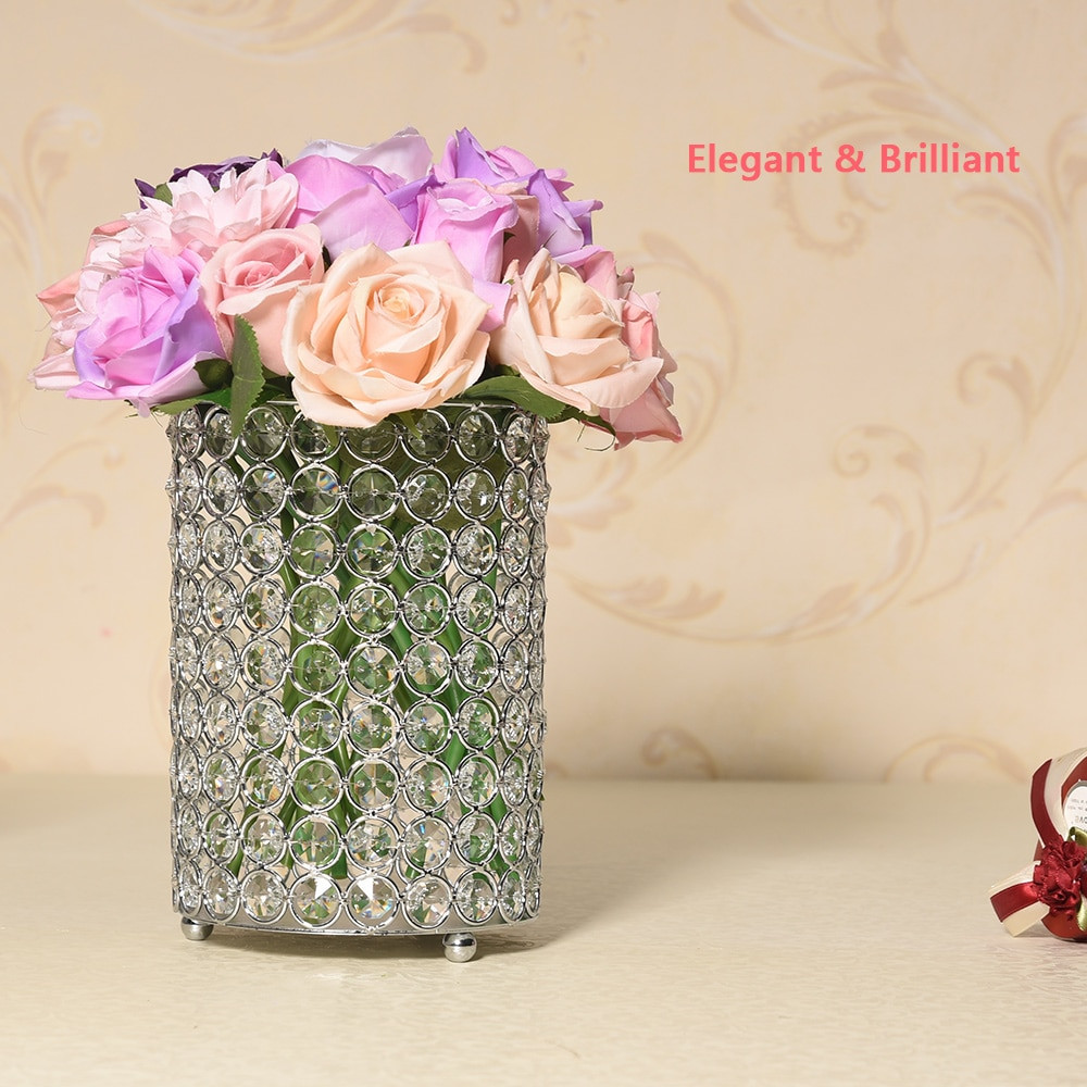 acrylic vase stand of crystal cylinder candle holder tealight stand glass hollow flower regarding please note we also have the other different height if you need please feel free to contact us thank you