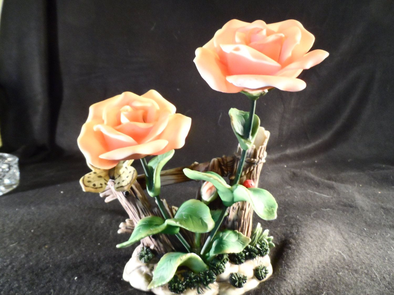 ak kaiser porcelain vase of alboth kaiser porcelain figurine peach roses fence posts in alboth kaiser porcelain figurine peach roses fence posts butterfly ladybug