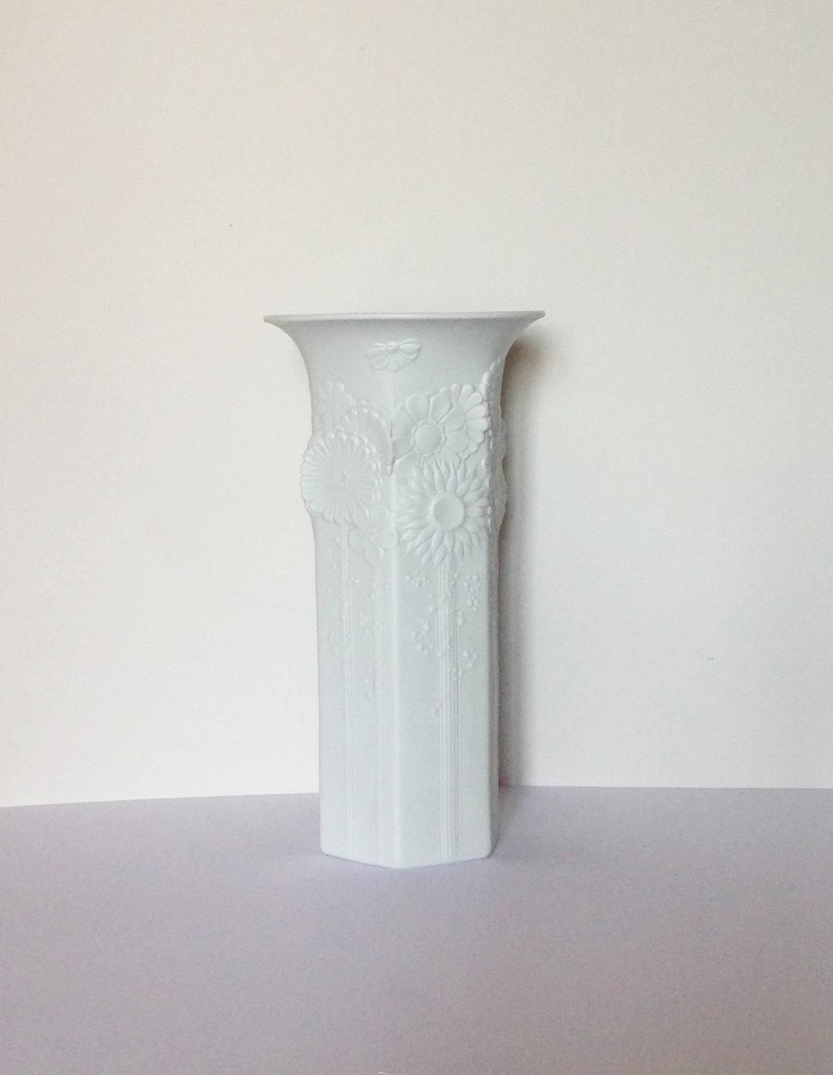 """ak kaiser porcelain vase of large kaiser hexagonal white bisque vase capri 490 28 etsy with dŸ""""Žpowia™ksz"""
