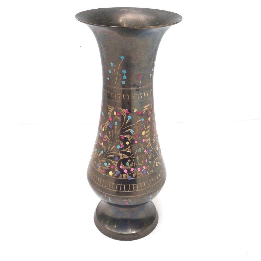 aluminum flower vase of vintage brass vasesmall vasepainted brass flower vasemid eastern within vintage brass vasesmall vasepainted brass flower vasemid eastern decor