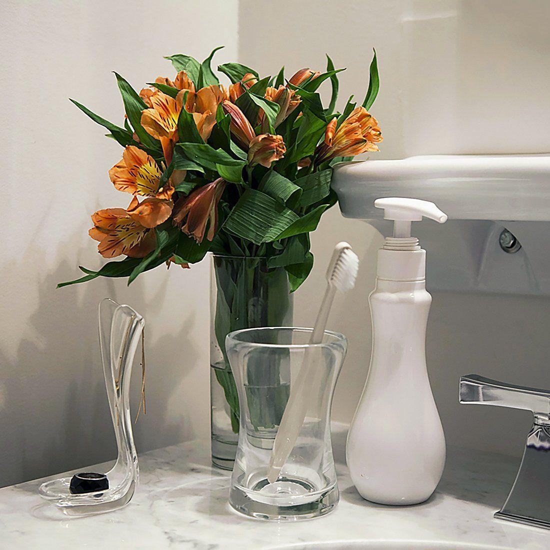 amazon glass vases of amazon com briiith ocean bath collection tumbler clear in amazon com briiith ocean bath collection tumbler clear