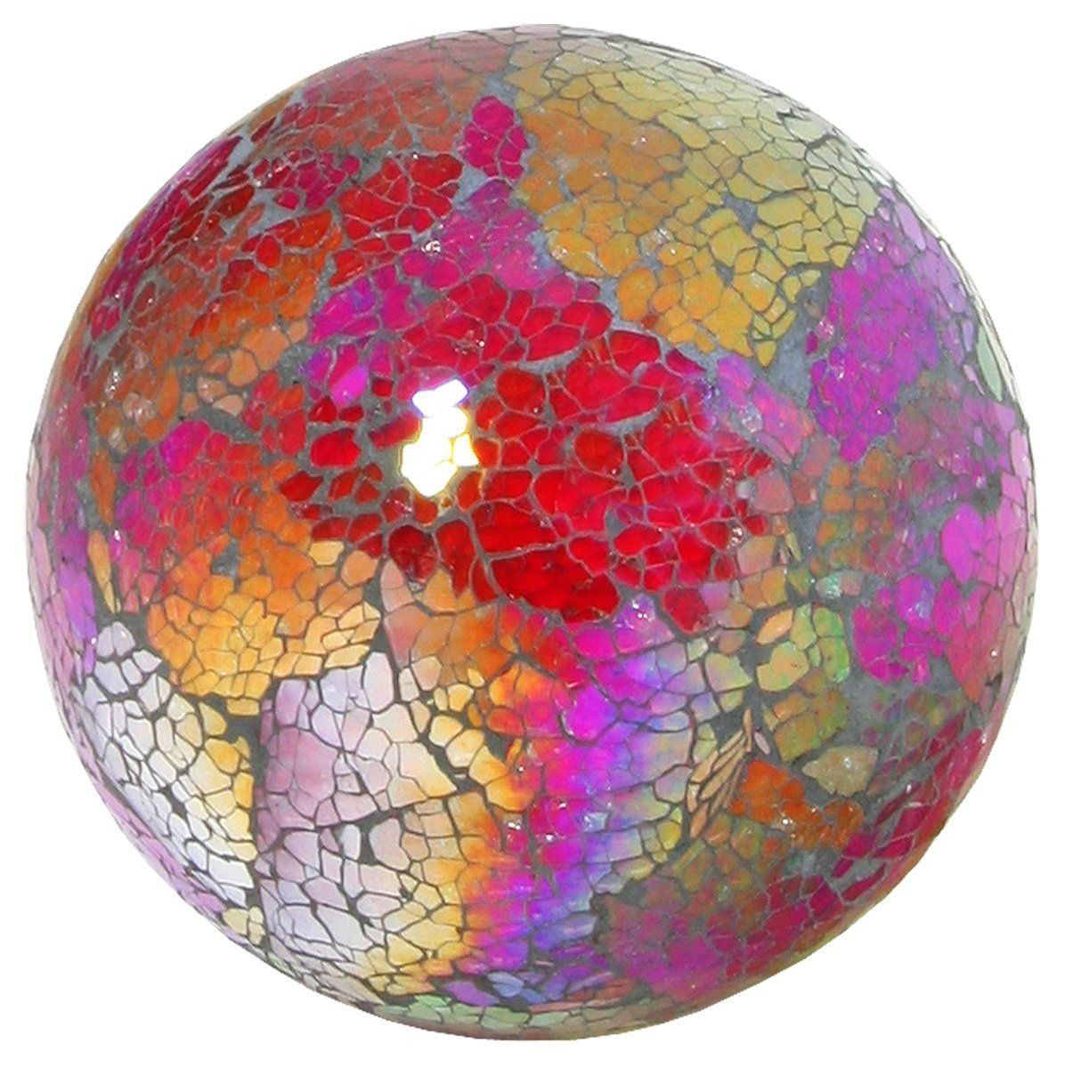 amazon glass vases of glass mosaic ball in multi coloured red medium amazon co uk with glass mosaic ball in multi coloured red medium amazon co uk