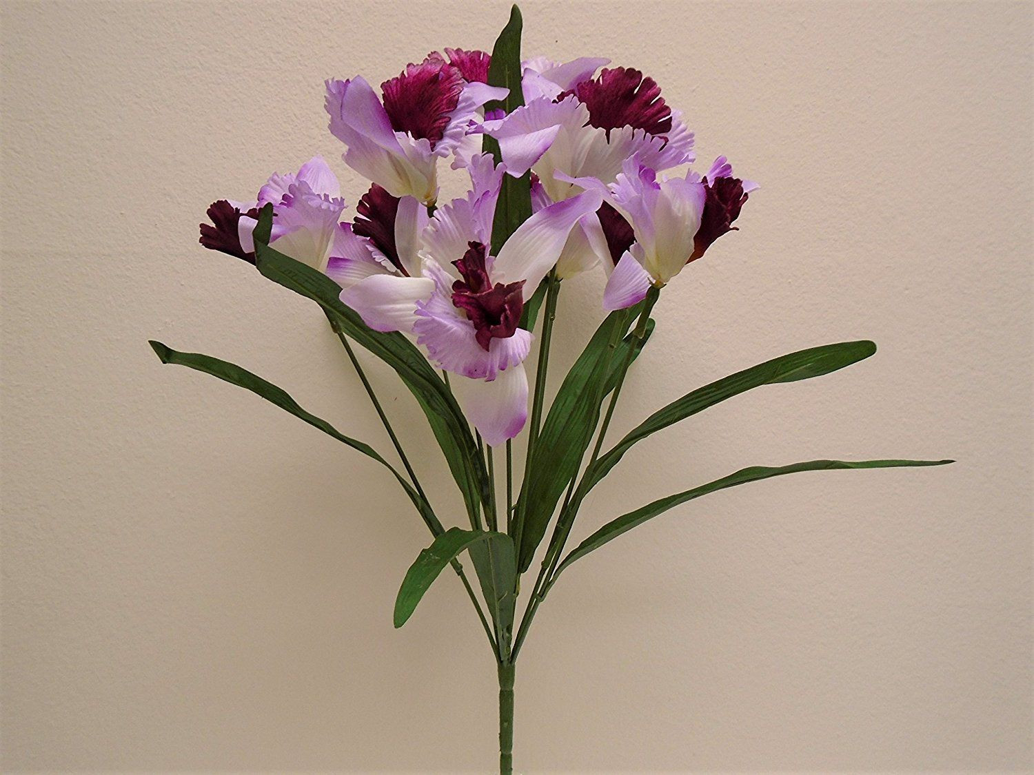amazon tall flower vases of amazon com lavender burgundy cattleya orchid bush 9 artificial intended for amazon com lavender burgundy cattleya orchid bush 9 artificial satin flowers 23 bouquet
