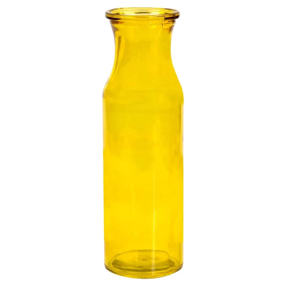 amber colored glass vases of milk glass dollar tree inc with yellow translucent glass milk jug vases 7 75 in