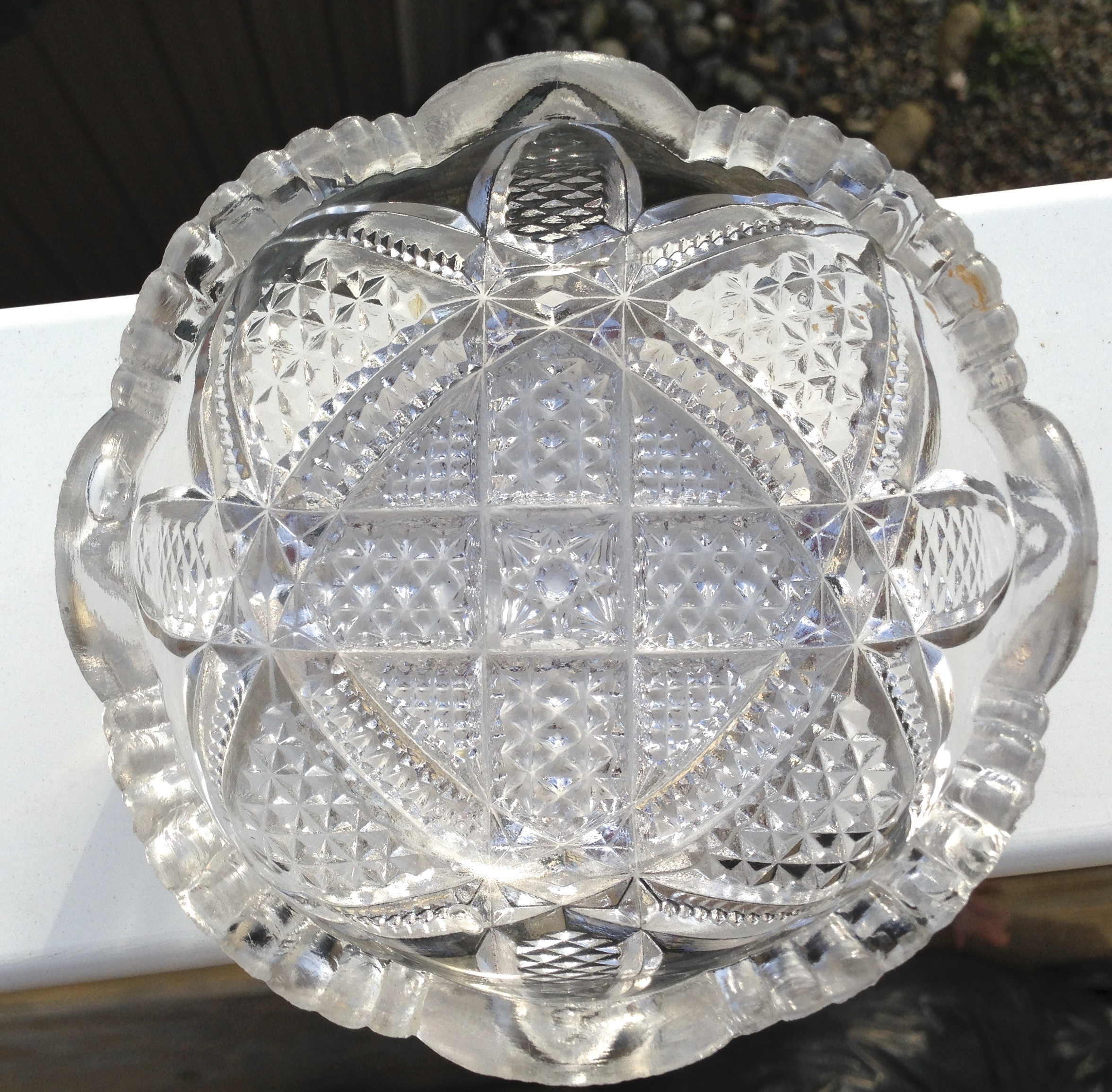 american brilliant cut glass vase of is it pressed glass or cut glass janvier road where old becomes intended for no mold lines sharp cuts and it flouresces under black light yet its