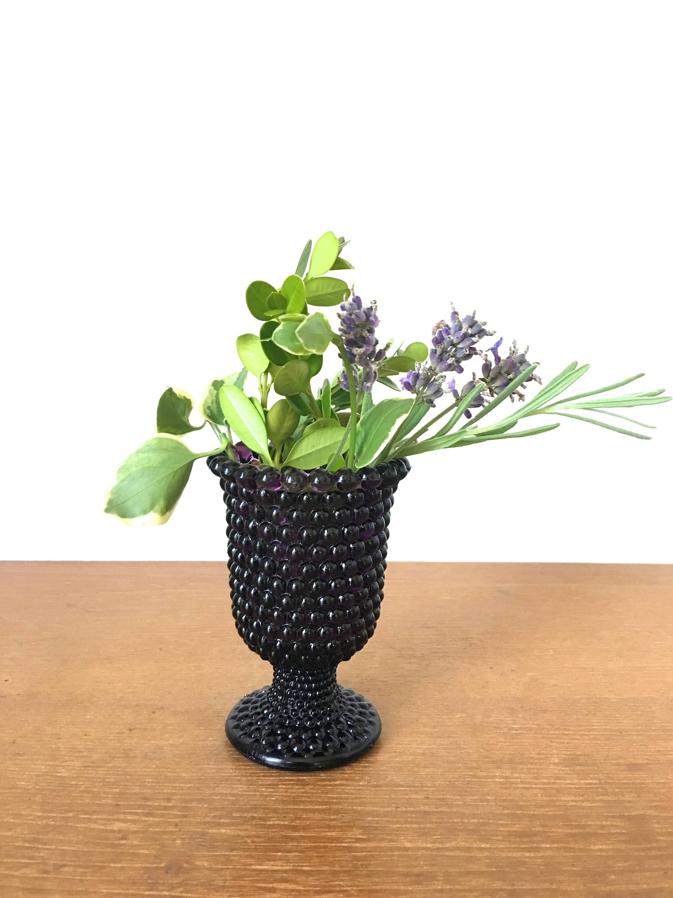 amethyst glass vase of amethyst glass hobnail vase votive holder by sweetpotatojack on throughout amethyst glass hobnail vase votive holder by sweetpotatojack on etsy