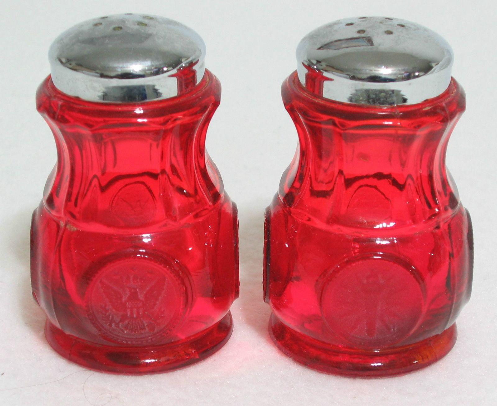 Anchor Hocking Bud Vase Of Anchor Royal Ruby Glass Shakers Vintage Salt and Pepper Regarding Fostoria Ruby Red Coin Glass Salt Pepper Shakers