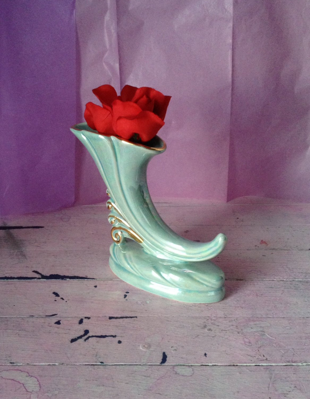 "Anchor Hocking Bud Vase Of Vase Cornucopia Iridescent Horn Of Plenty Vase Iridescent In DŸ""Žzoom"