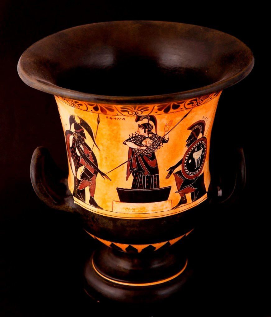 ancient greek vase replicas of greek pottery shop buy ancient greek vessels replicas ceramic vases pertaining to greek pottery shop classical black figured krater decorated with achillesathena and ajax classical greek