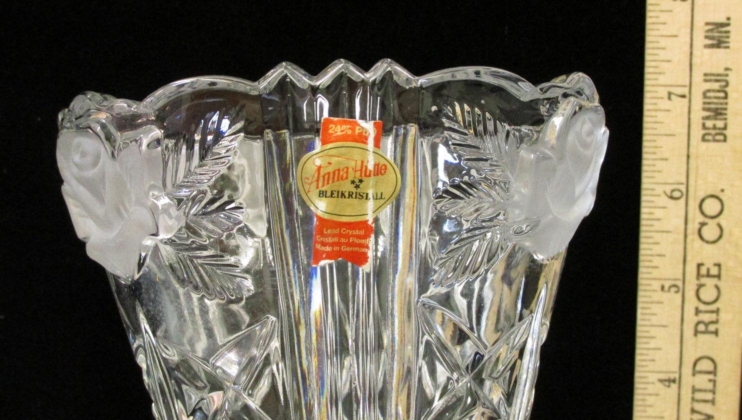 anna hutte bleikristall lead crystal vase of glass crystal vase frosted rose anna hutte bleikristall 7 3 4 tall regarding crystal vase frosted rose anna hutte bleikristall 7 3 4 tall diamond 2 of 4