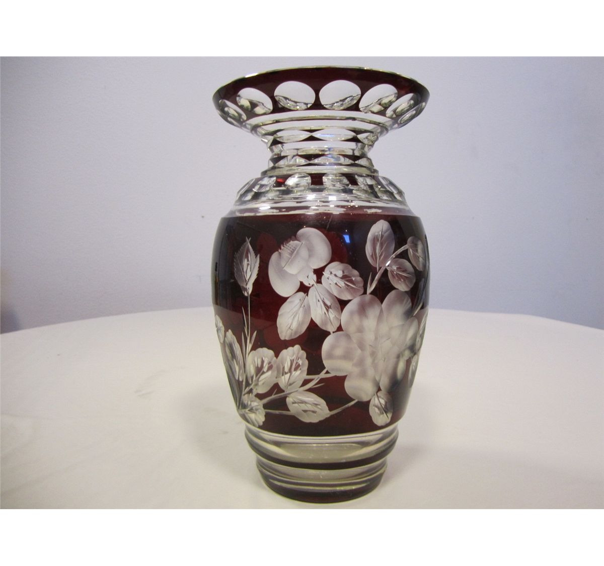 antique bohemian glass vase of antique bohemian czech deep ruby red cut to clear crystal vase 11 1 throughout image 2 antique bohemian czech deep ruby red cut to clear crystal vase 11 1