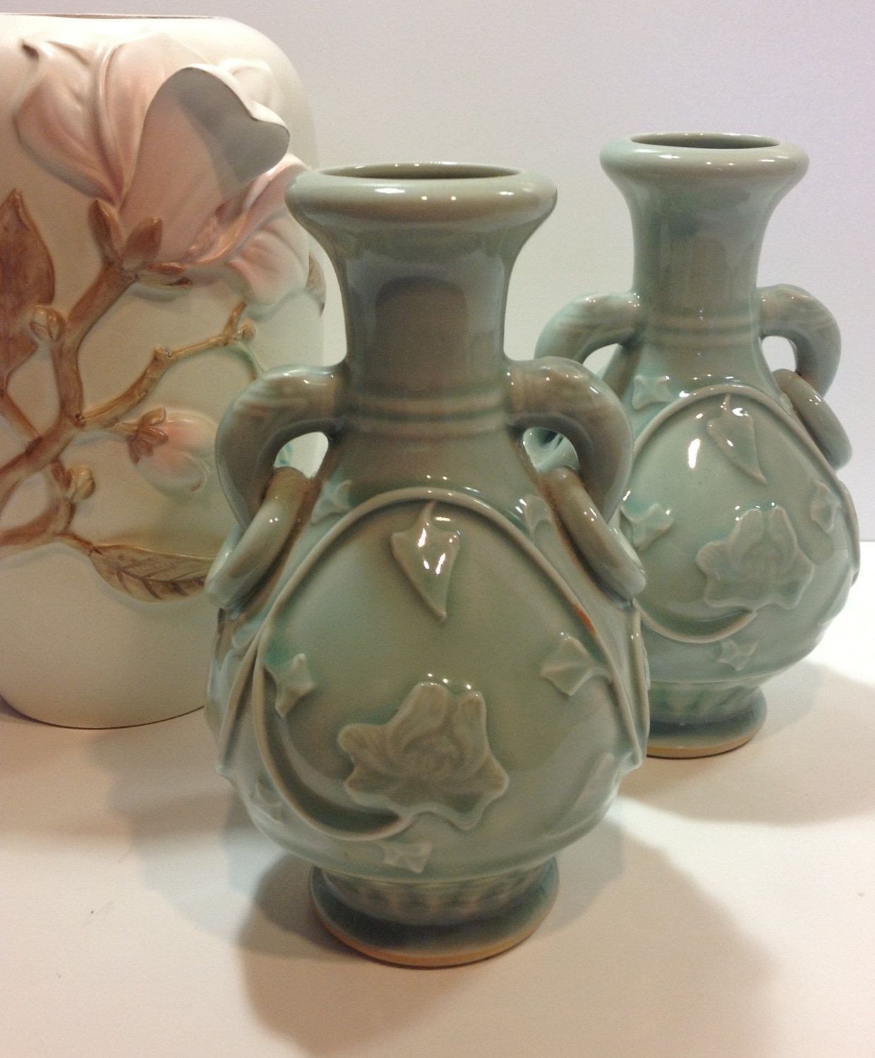 antique bristol blue glass vase of ceramic vase set pics vintage asian style vases celadon set of in ceramic vase set pics vintage asian style vases celadon set of longquan style decor vase