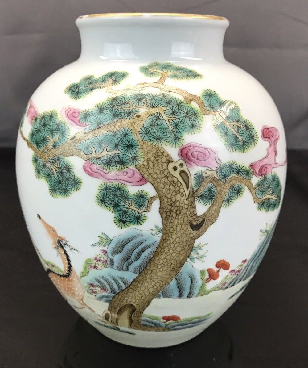 antique chinese pottery vases of wonderful antique chinese porcelain vase with deers yongzheng mark throughout wonderful antique chinese porcelain vase with deers yongzheng mark fine quality