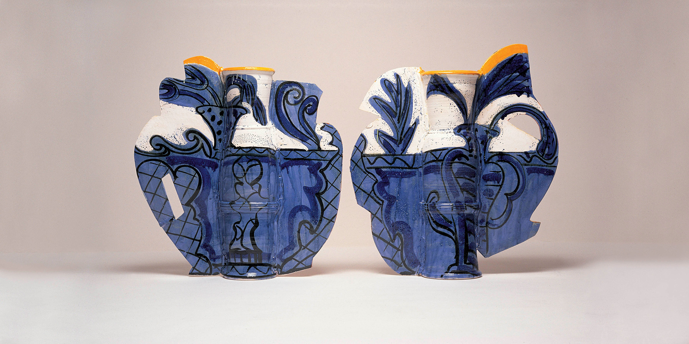antique chinese vase appraisal of david kordansky gallery with the portugese in japan 2000 glazed earthenware epoxy resin lacquer paint 34 x 60 x 9 inches 86 4 x 152 4 x 22 9 cm