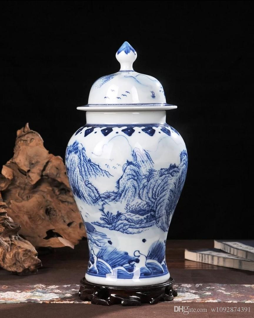 antique chinese vases of 2018 ceramic vase hand painted blue and white porcelain home inside ceramic vase hand painted blue and white porcelain home decoration living room antique china decorative