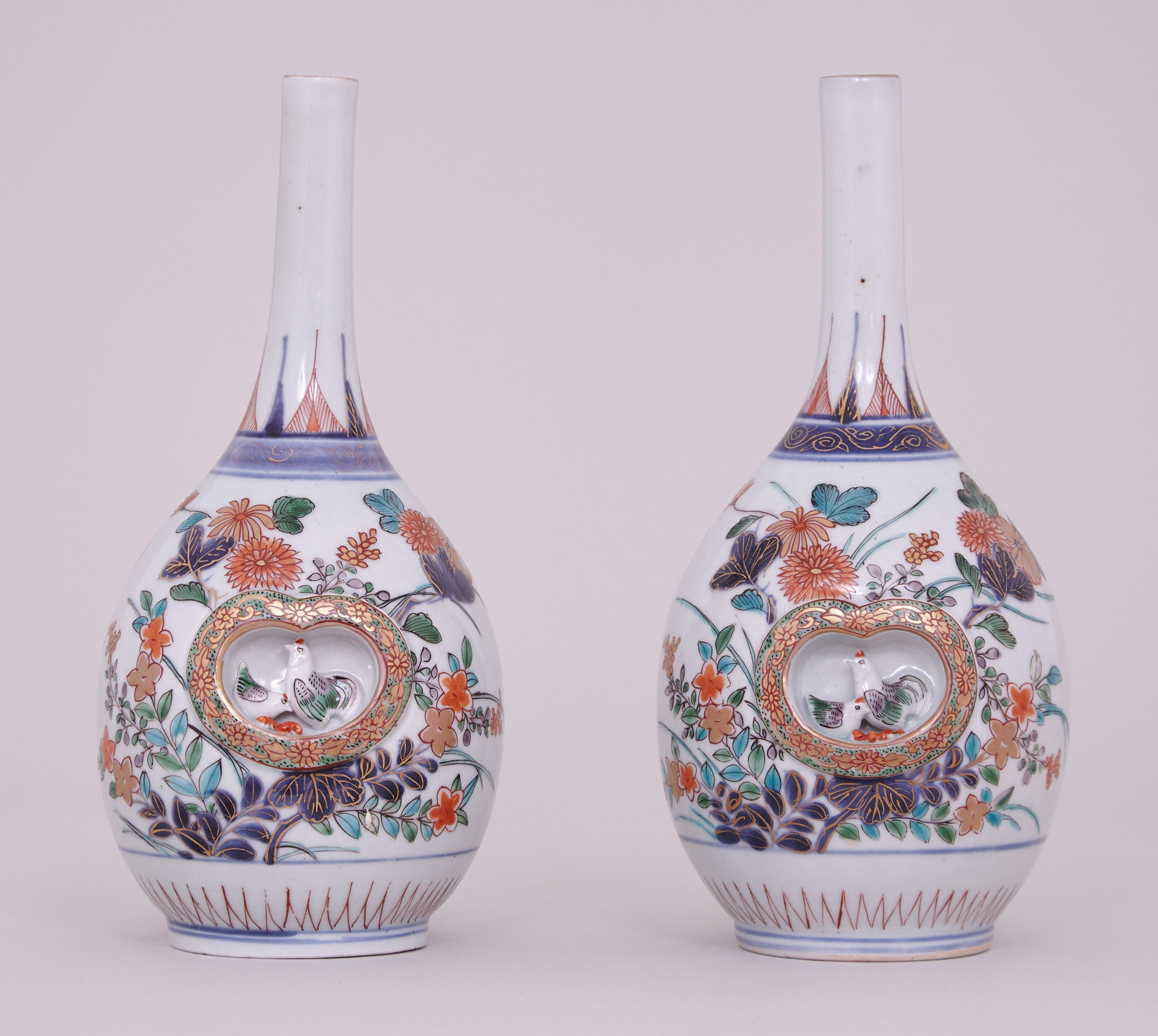 antique chinese vases of a pair of fine japanese imari bottle vases late 17th early 18th intended for a pair of fine japanese imari bottle vases