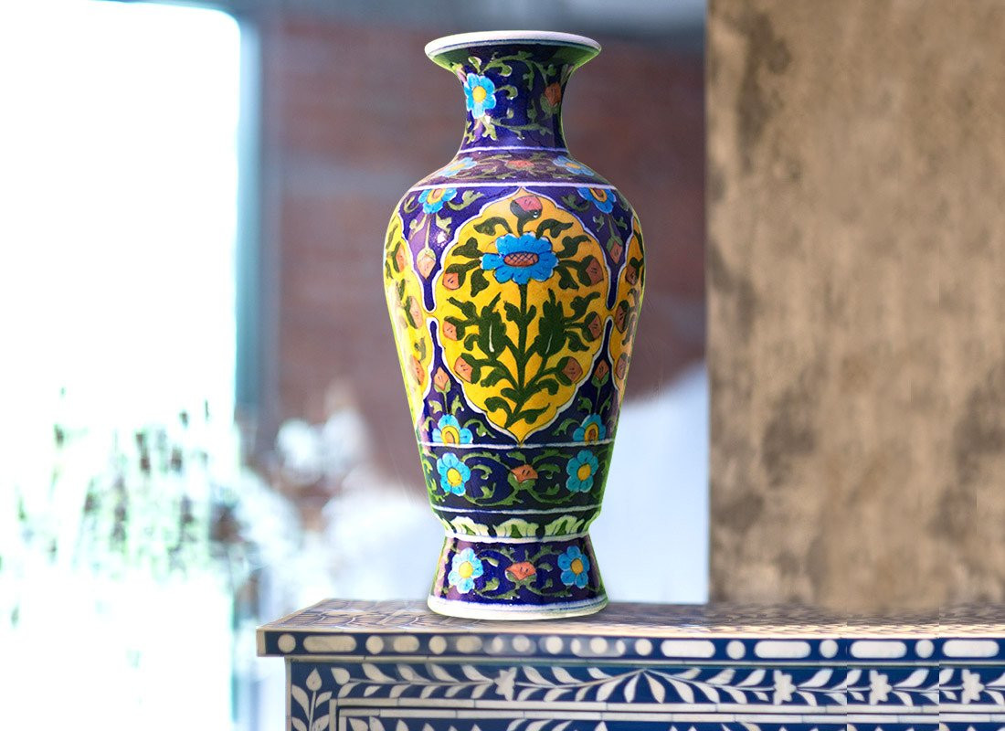 Antique Colored Glass Vases Of Antique Vase Online Small Decorative Glass Vases From Craftedindia Throughout Decorative Flower Vase