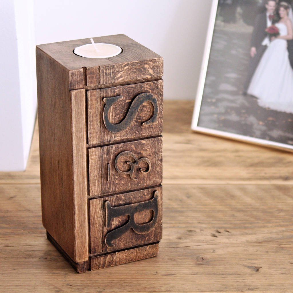 Antique Face Vases Of Personalised Wooden Block Tealight Holder and Vase by Warners End Inside Personalised Wooden Block Tealight Holder and Vase