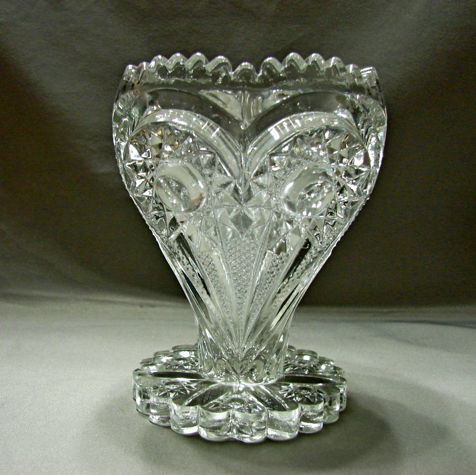 Antique Glass Vases for Sale Of Eapg Zippered Heart Glass Vase Antique and 10 Similar Items with Eapg Zippered Heart Glass Vase Antique Imperial Glass Circa 1910