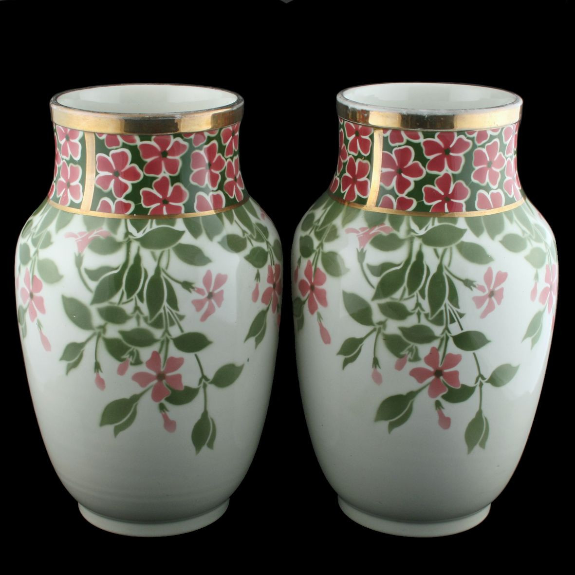 antique japanese metal vases of pair of luneville pottery vases pottery vase and pottery in large pair of early century french pottery vases by kg luneville these impressive antique vases are available to buy online now
