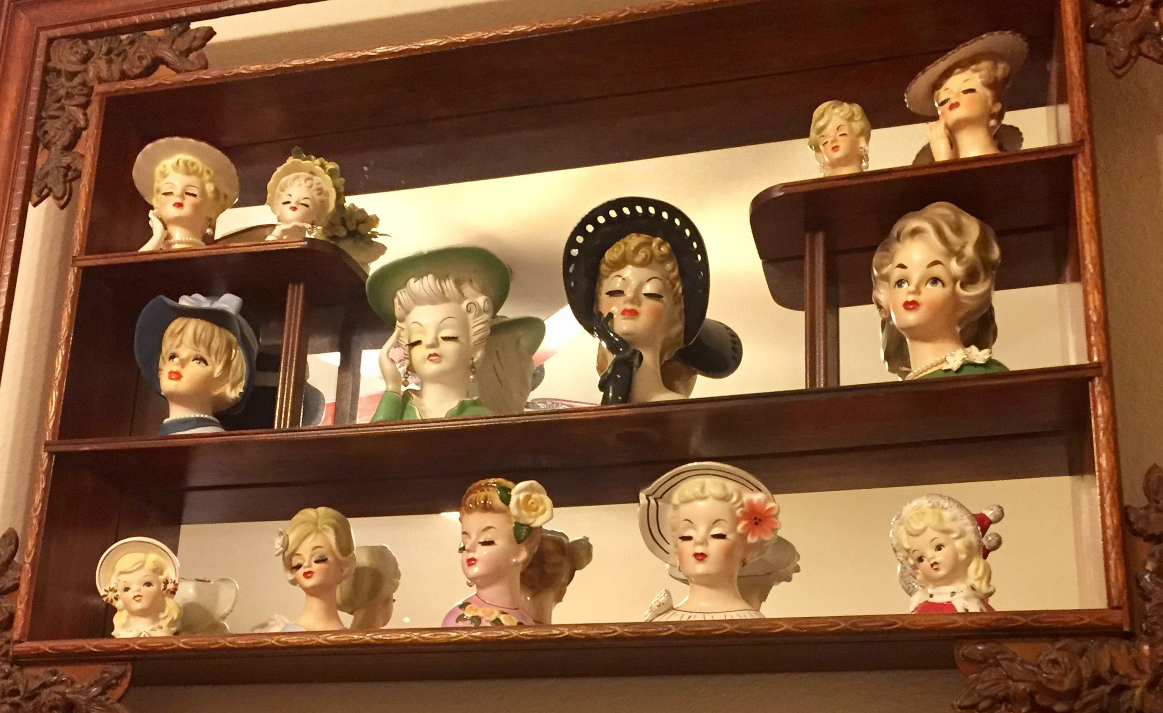 antique lady head vases of collecting vintage lady head vases for headvasesdisplay 58c326ef3df78c353c6d70c2