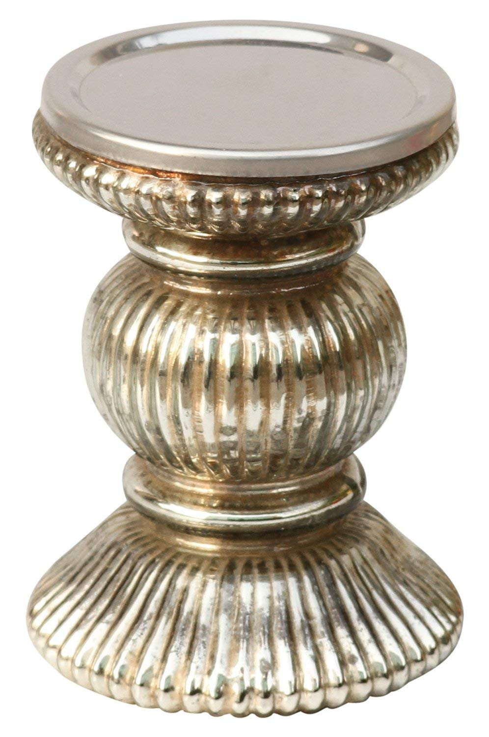 antique mercury glass vases of amazon com deal of the day 5 3 silver candle holder amazing regarding amazon com deal of the day 5 3 silver candle holder amazing decorations souvnear handmade ribbed glass pillar candle holder candle stand home