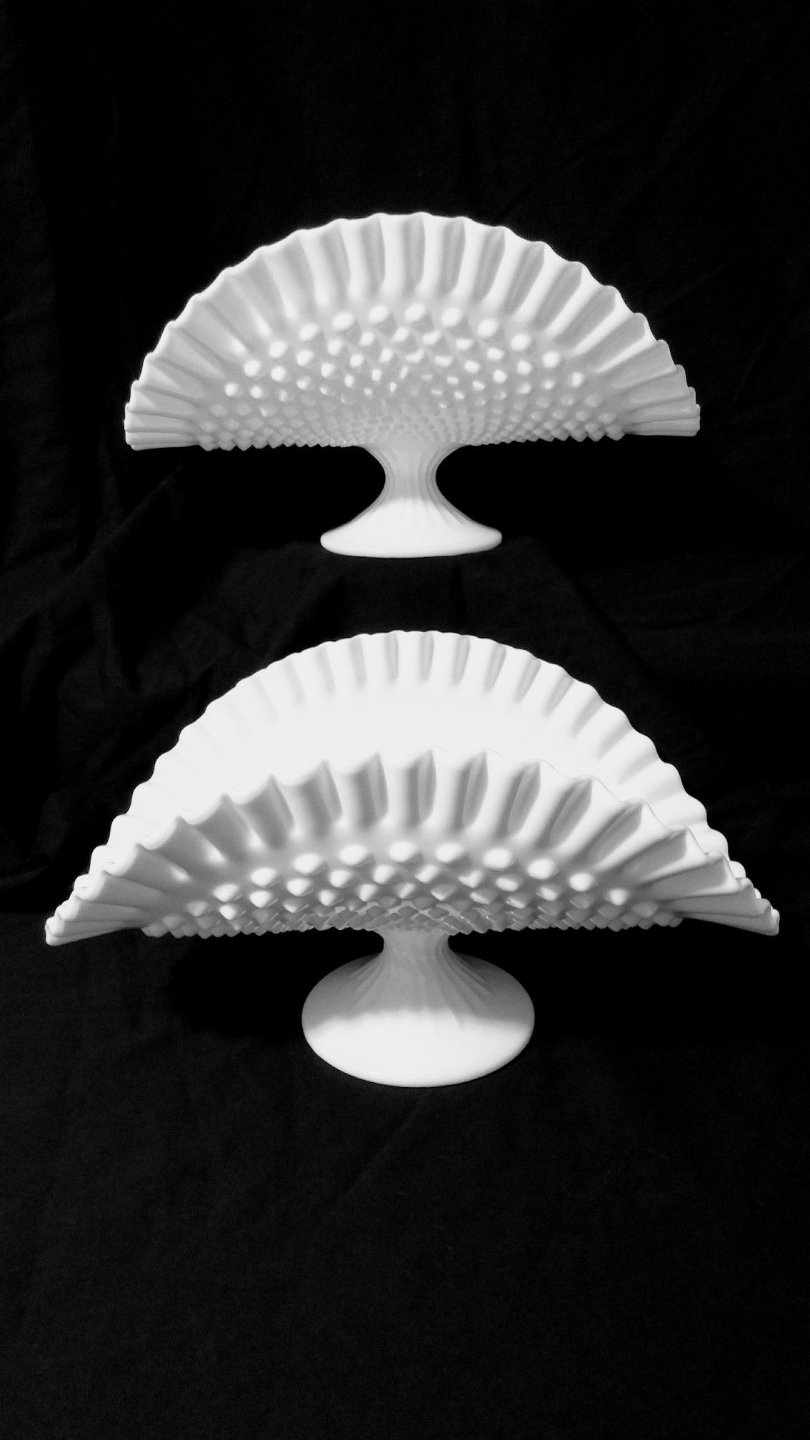 Antique Milk Glass Vases Of Fenton Hobnail Milk Glass Banana Bowls 6 1 4 Tall Heidis Regarding Fenton Hobnail Milk Glass Banana Bowls