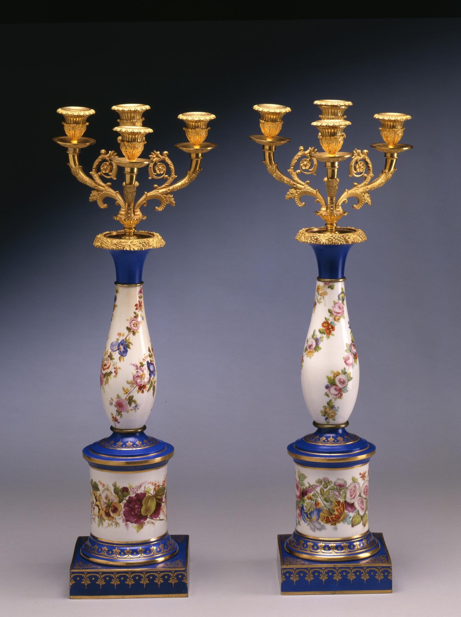 antique porcelain vase markings of paris porcelain a pair of late empire three light candelabra paris within a pair of late empire three light candelabra