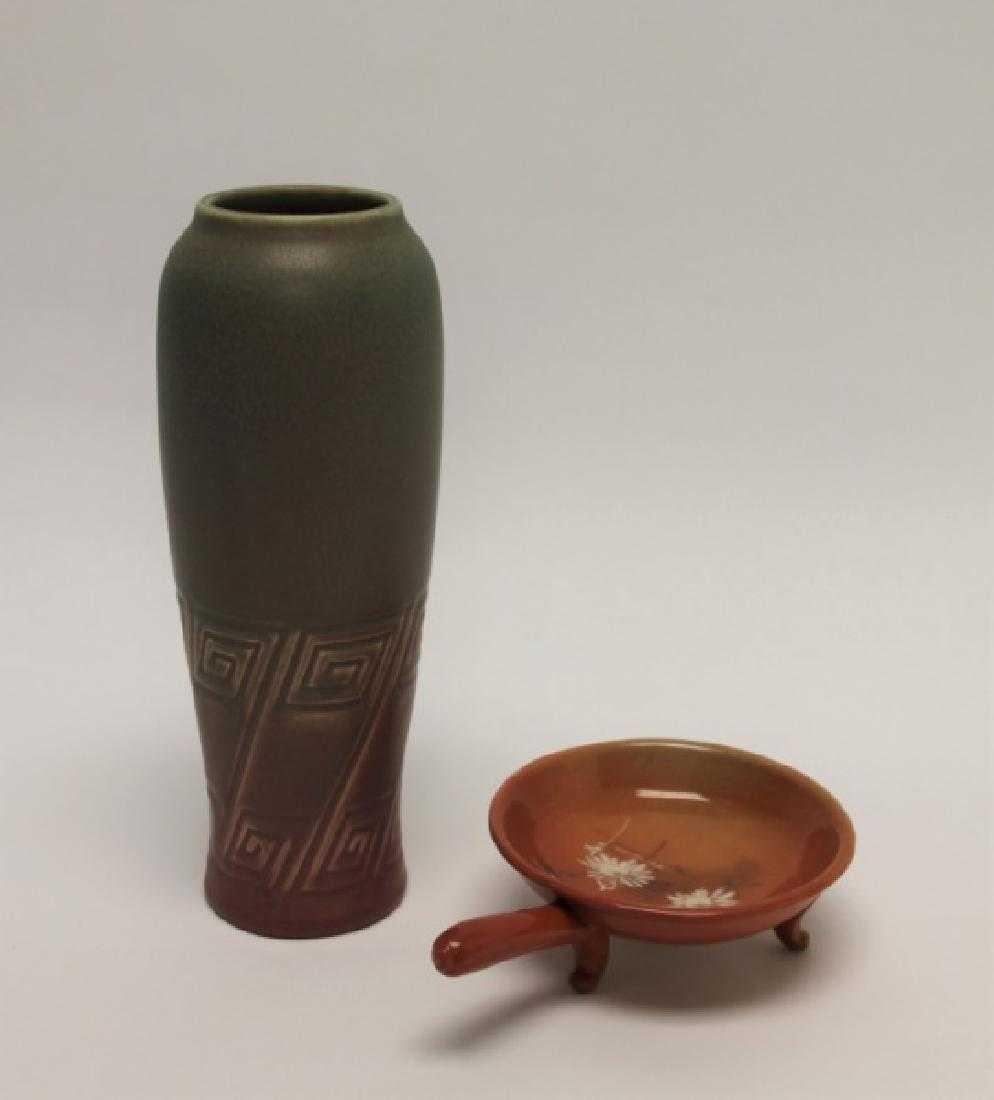 antique rookwood pottery vases of 2 pcs rookwood pottery glazed vase porringer for 2 pcs rookwood pottery glazed vase porringer