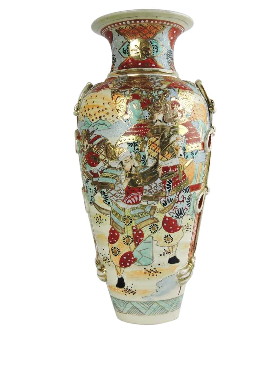 antique vases hand painted of 19th century satsuma vase with hand painted japanese figural scenes in 19th century satsuma vase with hand painted