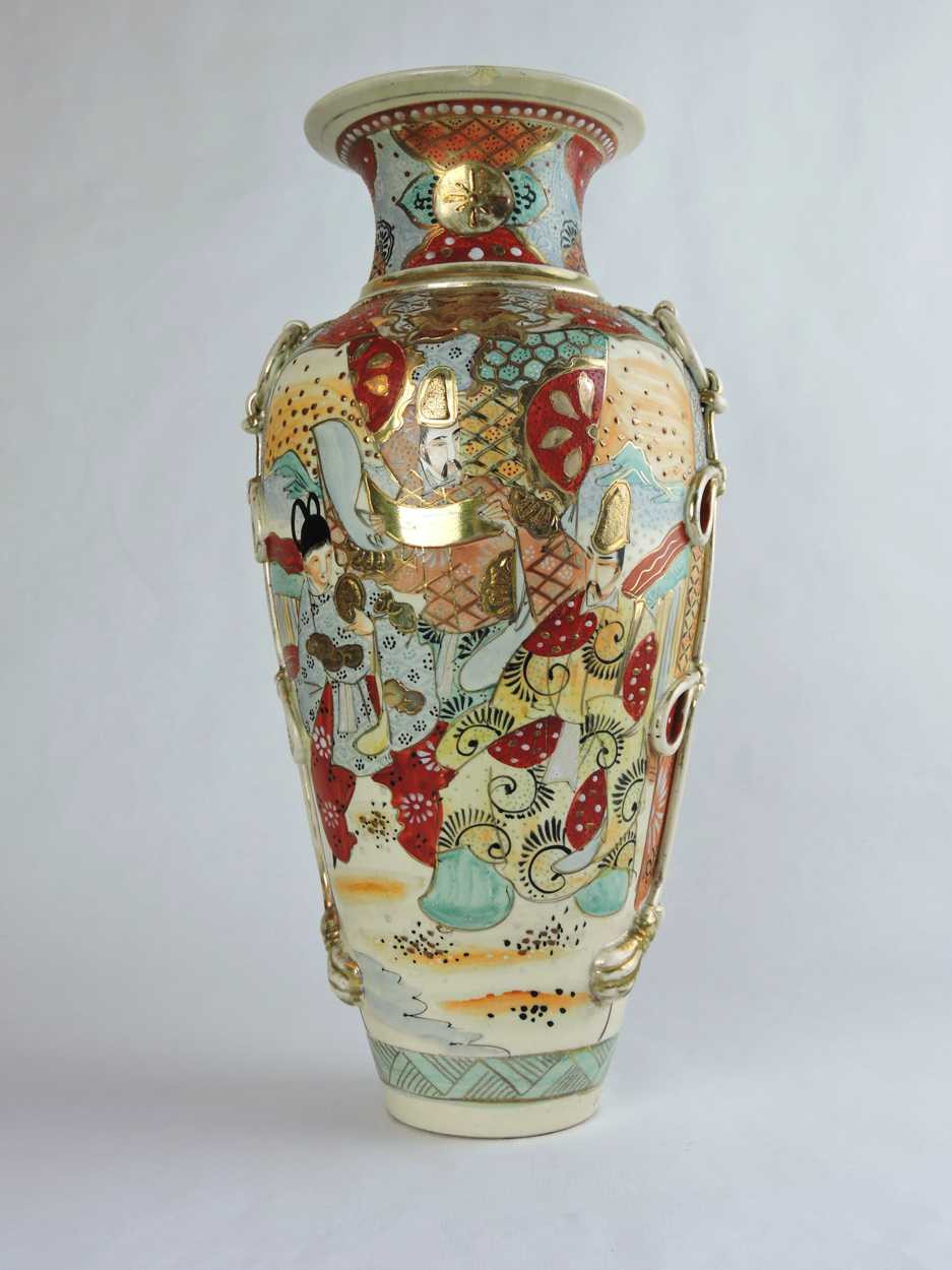 antique vases hand painted of 19th century satsuma vase with hand painted japanese figural scenes within 19th century satsuma vase with hand painted