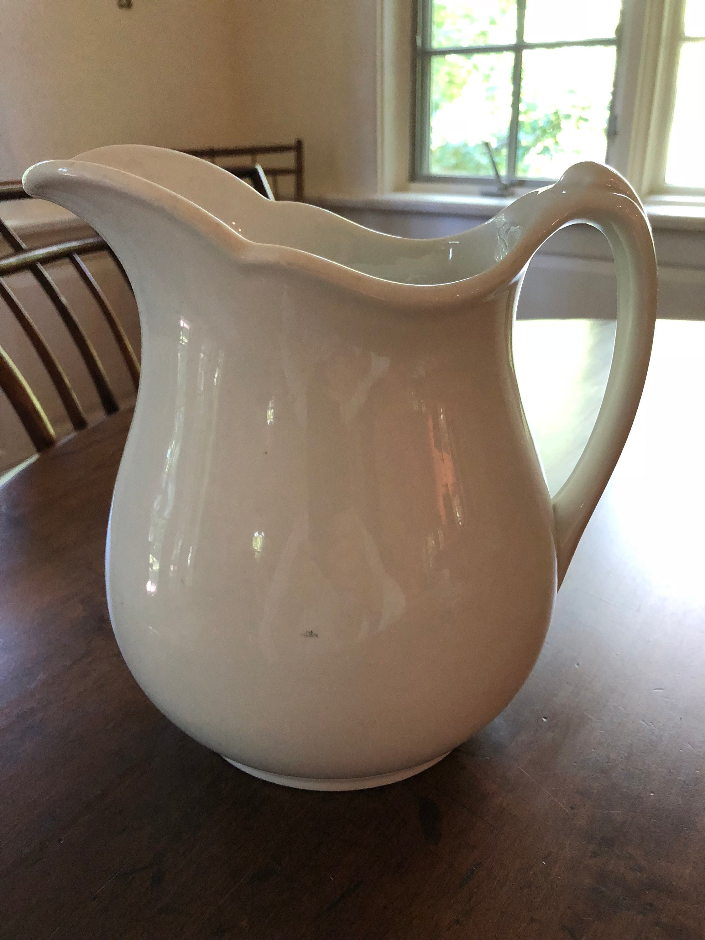 "antique wedgwood vase of antique white ironstone pitcher op co syracuse china etsy intended for dŸ""Žzoom"
