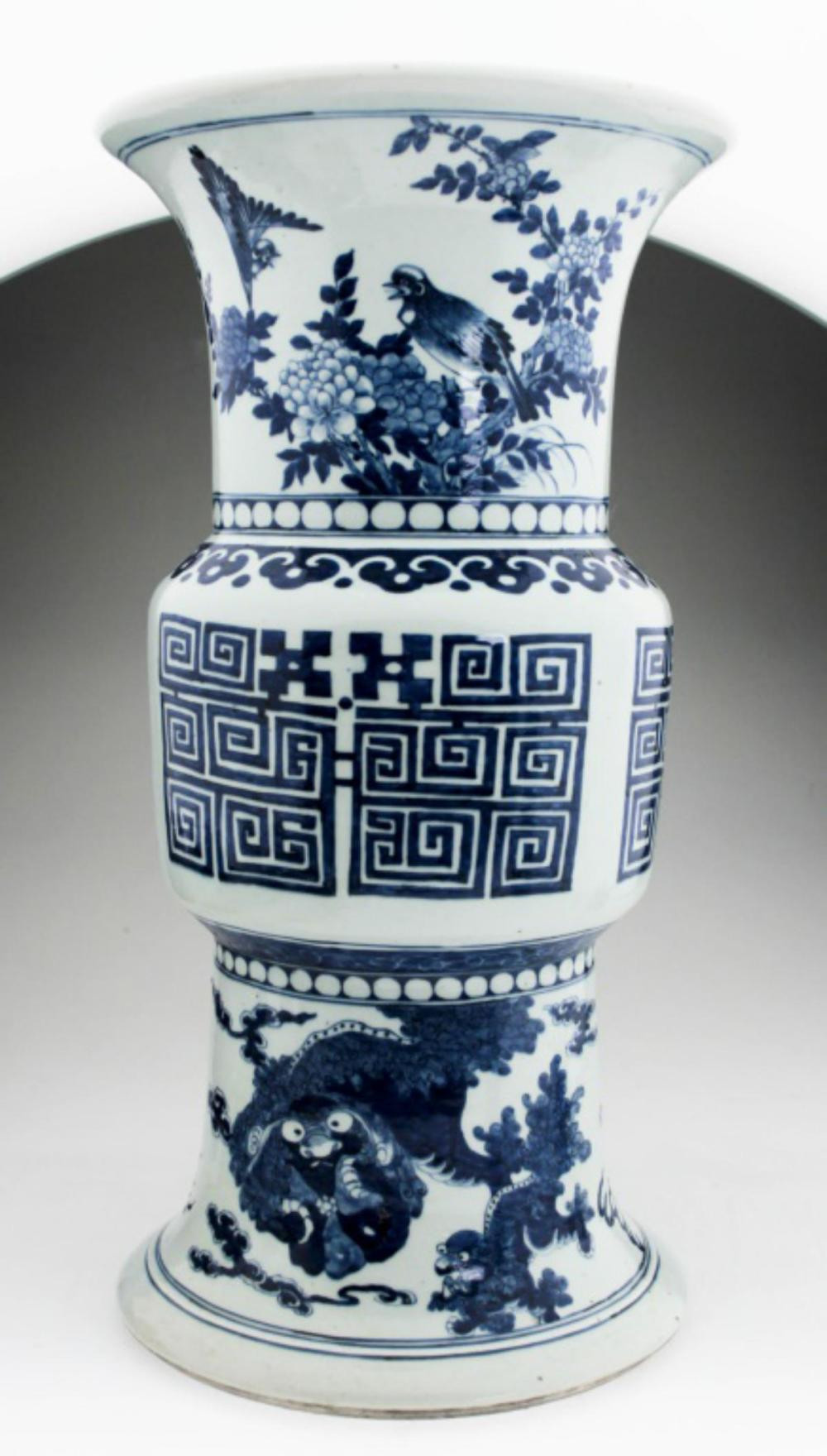 antique white porcelain vases of a huge chinese blue and white garden seat within h21302 l148274575